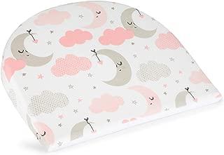 Universal Baby Newborn Bassinet Crib Wedge Pillow Insert for Mattress by HUNTER & LANE - 100% Organic Cotton - Waterproof - Incline Infant Sleeper - Relieves Gerd, Acid Reflux, Colic & Congestion