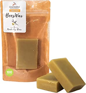 Glambella Yellow Beeswax Bars - Smells Like Honey, Perfect to Make Candles, Lip Balms and Lotions - Cosmetic Grade (100 GMS)
