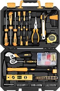 Sponsored Ad – DEKO 138 Piece Home Tool Kit, Universal Repair Tool Set with Plastic Tool Box Storage Case