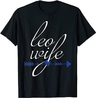 LEO Wife Gift, Law Enforcement Police Officer Boho Design T-Shirt