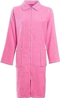 Lora Dora Womens Long Sleeve Zip Through Dressing Gown Robe