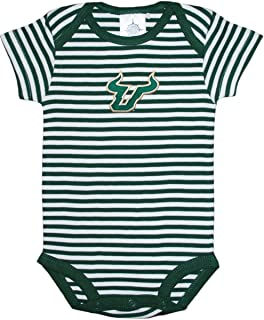 Creative Knitwear University of South Florida Bulls Striped Baby Bodysuit