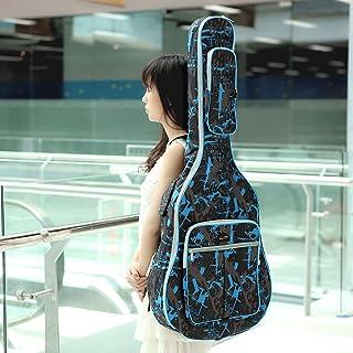 600D قماش أكسفورد مقاوم للماء التمويه الأزرق مزدوجة الأشرطة المبطنة غيغ حقيبة حمل الغيتار لغيتار شعبي صوتي