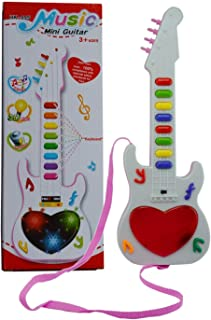 Toysale Musicale Mini Guitar Instrument with Sound & 3D Lighting Learning Toy for Kids
