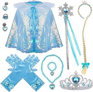 لوازم جانبی AMOR PRESENT Princess Dress Up لباس منجمد برای مهمانی ها و بازی های پیراستن (7 رایانه