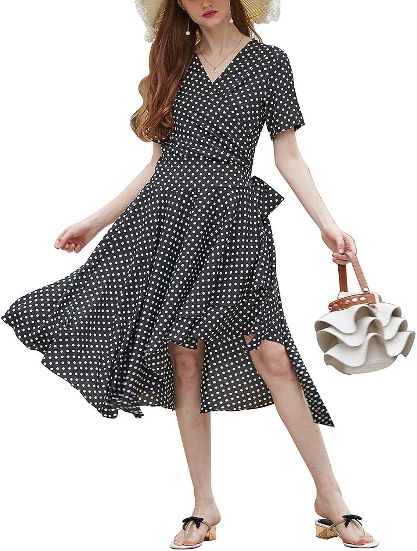 Design Safety Women Vintage Dot Maxi Dress