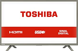 "TV LED 32"" HD com 3 entradas HDMI e 1 USB, Toshiba 32L1800, Grafite"