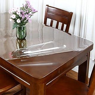 HHUU PVC bordsduk transparent bordskudde, 1,5 mm tjock klar plast bordsskydd mjukt glastyg skyddande kudde vattentät rekta...