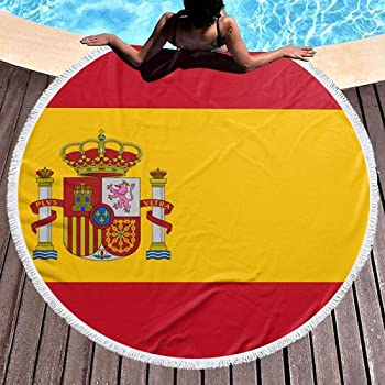 Nazi Mie Bandera de España.Jpg Redondo Toalla de Playa Manta Alfombra de Picnic: Amazon.es: Hogar