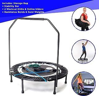 Maximus Pro Rebounder - Trampolin Fitness Plegable. Mini Cama Elástica. Trampolines Fitness para Adultos Peso máximo 140 kg