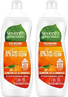 Seventh Generation Plant-based Dishwashing Liquid Clementine, 750ml (Pack of 2)