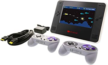 Retro Champ Premium Bundle - Portable Gaming Console with 2 Controllers - Compatible with Nintendo NES and Famicom Games