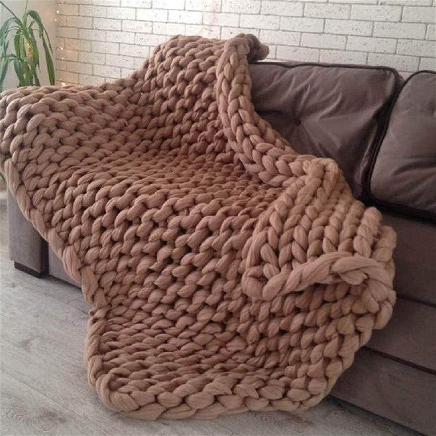 JGYZD Knitted favorite Blanket Blend Arm Knit Super Bombing free shipping Large Throw