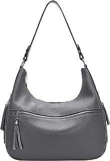 کیف دستی و کیف زنانه OVER EARTH چرم اصل زنانه کیف دستی شانه چرم ناز نرم با منگوله