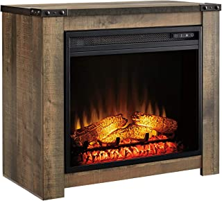 Signature Design bye Ashley Trinell Fireplace Mantel and Insert, Brown