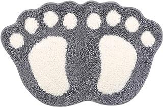 Yesiidor - Alfombras de baño antideslizantes, absorbentes, lavables a máquina, color gris claro