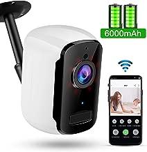WiFi Battery Powered Camera, TOMLOV 32GB 1080P Wireless...