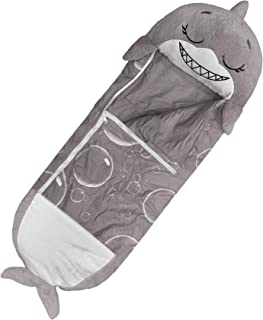 "Happy Nappers Pillow & Sleepy Sack- Comfy, Cozy, Compact, Super Soft, Warm, All Season, Sleeping Bag with Pillow- Medium 54"" x 20"", Shark"