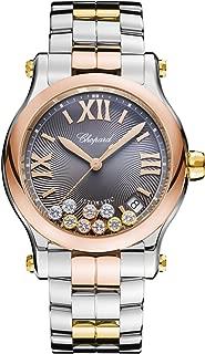 Chopard Happy Sport Round Ladies Two Tone Diamond Swiss Automatic Watch 278559-9001