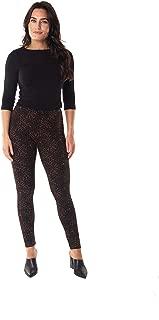 INTRO. Tummy Control High Waist Pull-On Cotton \ Spandex Legging - Multicolored - Small