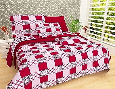 RS Home Furnishing Cotton 144 TC Bedsheet (King_Multicolour)