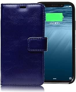 Assist Note (アシストノート) 手帳 スイッチ押して充電開始するケース Qi認証済み iPhoneXS/iPhoneXケース PSE認証済み (ネイビー)