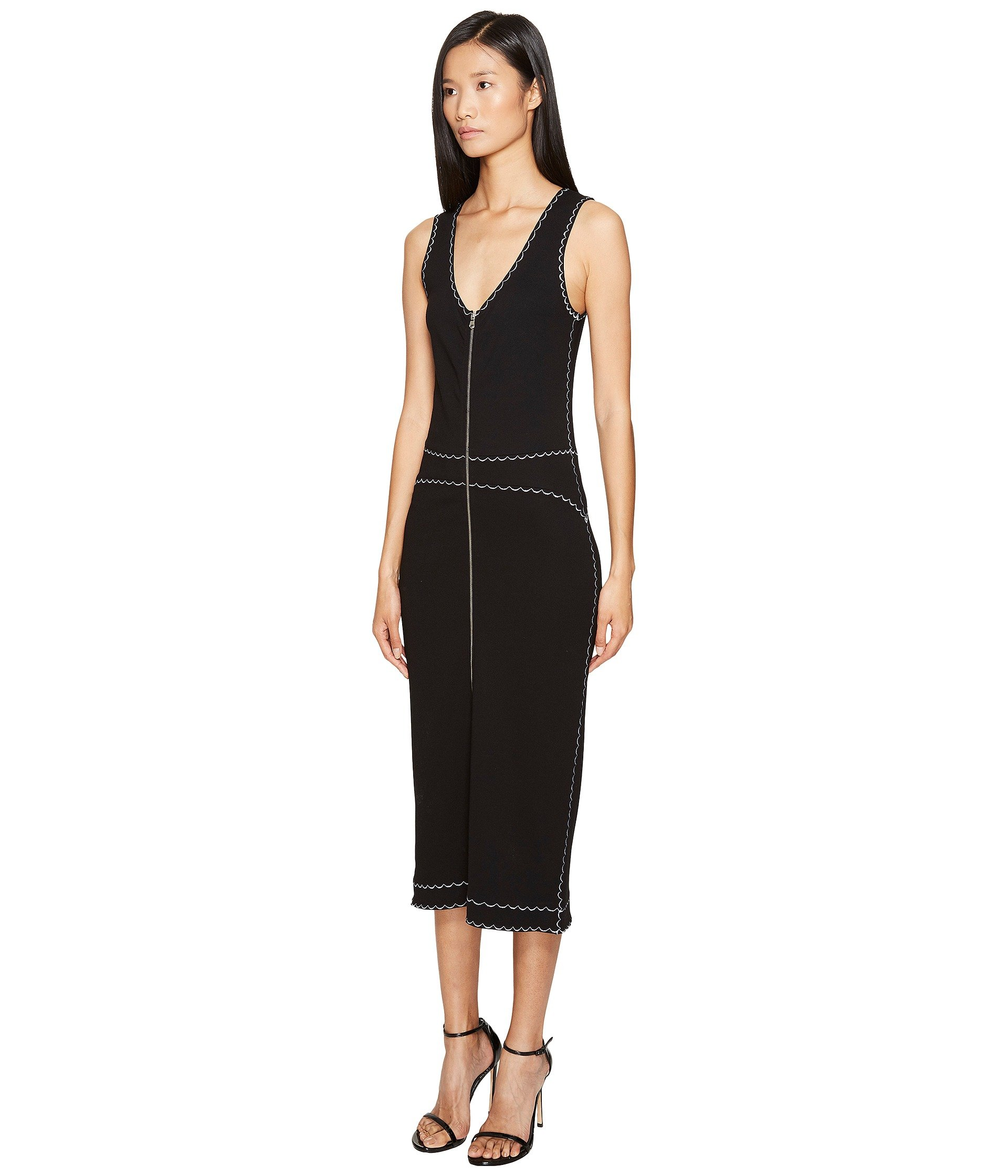 Mcq Alexander Mcqueen Woman Embroidered Ponte Midi Dress Black Size S Alexander McQueen Free Shipping Low Shipping Clearance Low Price Wholesale Latest For Sale YiqVuiRgQg