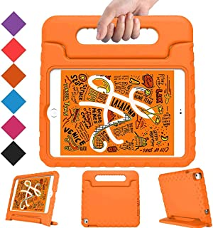 BMOUO Kids Case for iPad Mini 5 2019 /iPad Mini 4 2015 - Light Weight Shockproof Protective Convertible Handle Stand Case Cover for Mini 5th Generation 7.9 inch 2019 - Orange