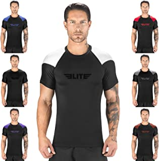 Elite Sports Standard Short Sleeve Compression, MMA, BJJ, No-Gi, Cross Training Rash Guard