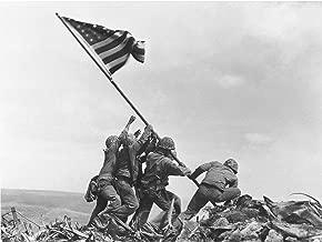 Rosenthal Raising Flag Iwo Jima Iconic WWII Photo Premium Wall Art Canvas Print 18X24 Inch