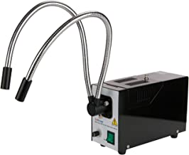 AmScope HL250-BY 150W Fiber Optic Dual Gooseneck Illuminator for Microscopes