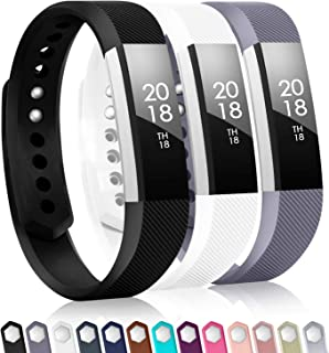 TreasureMax with Fitbit alta Bands for Women Men(3 Pack),Classic Replacement Bands with Fastener Rings for Fitbit Alta HR/Fitbit Alta/Fitbit Ace, Small/Large