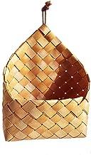 DROHOO Ogród ręcznie tkany drewniany kosz pleciony kosz do przechowywania kosz na owoce i warzywa, brązowy