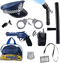 Born Toys (11 PCS) Police Hat and Toys role play set for Swat, Detective,FBI, Halloween and Police Costume Dress up