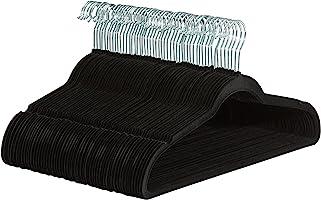 Amazonベーシック ハンガー 50本組 スーツ 衣類用 ブラック ベルベット製