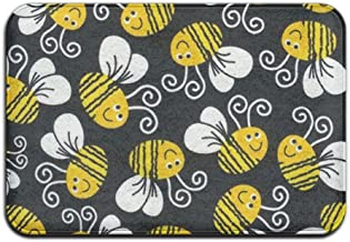 Door Mat Cute Bumblebee Non-slip Stain Fade Resistant Soft Living Dining Room Rug For Front Door Entrance Outside Doormat ...