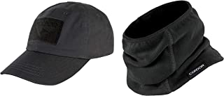 Condor Black Tactical Cap Black Thermo Neck Gaiter Bundled by Maven Gifts