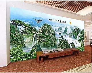 Kssim عرف جدارية صور 3D خلفيات النمط الصيني انتشار النسور المشهد غرفة ديكور اللوحة 3D جداريات خلفيات@200X140Cm