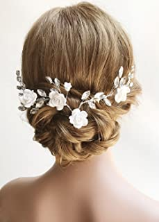shabby chic wedding hair accessories