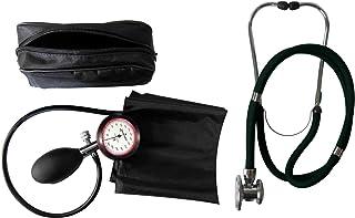 Tiga-Med - Esfigmomanómetro (1 manguito para brazo, estetoscopio rappaport de doble manguera y doble campana), color negro