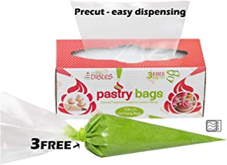 100 Pcs - Cake Decorating, Pastry Bags, in Dispenser Box - 16 Inch, Extra Thick, Disposable Icing Bags. Microwave safe. By CiE