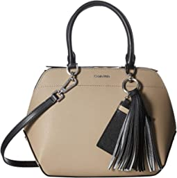 Susan Saffiano Leather Satchel