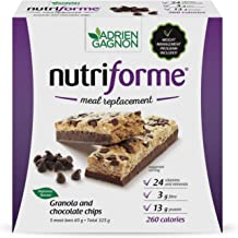 Adrien Gagnon – Sante Granola and Chocolate Chip Nutriforme Bars, 5 Bars, Meal Replacement Bar with Fiber, ...