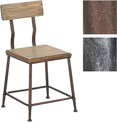 CLP Chaise Design Industriel Queens, avec Dossier, 4 Pieds