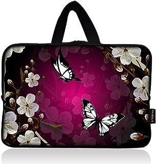 AUPET Nice Flower & Butterfly Universal 7~8 inch Tablet Portable Neoprene Zipper Carrying Sleeve Case Bag