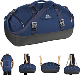 AIONE Travel Duffel Bag,Water-Resistant Gym Sports Backpack 4-Way Large Weekender Bag Unisex Overnight Tote Carry-on Luggage with Shoe Compartment42L/55L/65L