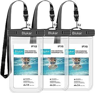 Blukar Funda Impermeable Móvil [6.5 Inch*1+6 Inch*2], 3 Unidades IPX8 Bolsa Impermeable Móvil Teléfono Universal Funda Sumergible Móvil para iPhone XS MAX/XS/8 Plus, Huawei, Galaxy S10/S9, Sony etc.