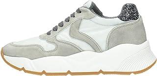 VOILE BLANCHE Sneakers Donna 0B03 Sheel Grigio Ch Camoscio Tessuto