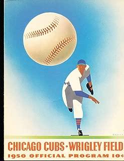 1950 chicago Cubs vs Cincinnati Reds scored baseball program