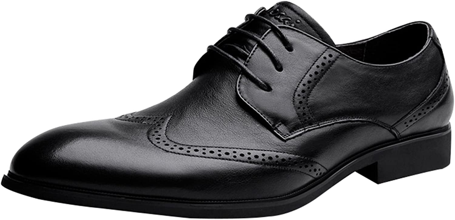Men's Brock Carved shoes Business Casual shoes Wedding shoes Black Brown Fashion